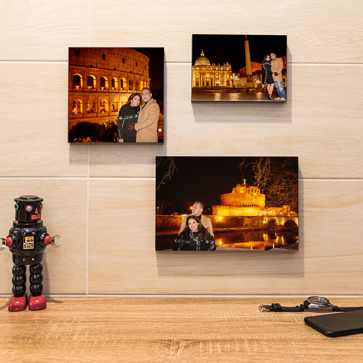 fotoquadri su muro